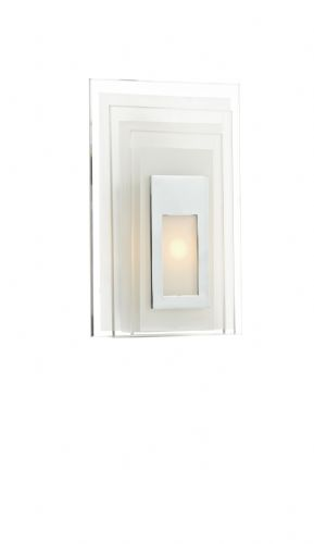 Binary 1-light Double Insulated LED Frosted glass Wall Light  (Class 2 Double Insulated) BXBIN072-17